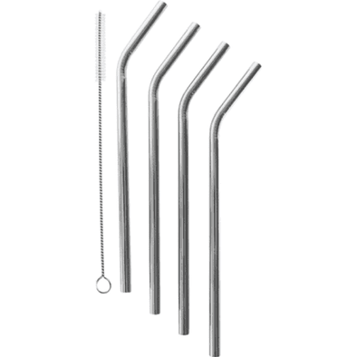 Bent Stainless Steel Straw (Pack of 4)