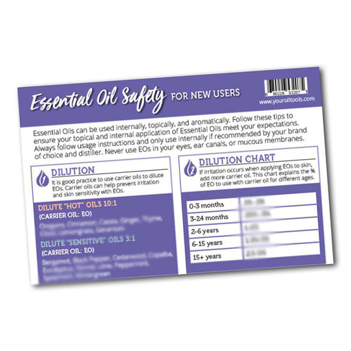 Essential Oil Safety Mini Tear Pad - Your Oil Tools