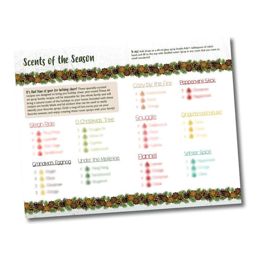 Scents of the Season Recipe Bi-Fold - Your Oil Tools
