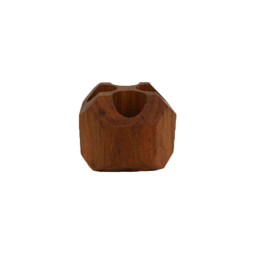 Geometric Wooden Roll-On Display Rack (Wild Cherry) - Your Oil Tools
