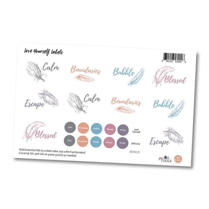 Love Yourself Labels - Your Oil Tools