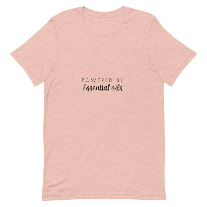 """Powered by Essential Oils"" Short-Sleeve Unisex T-Shirt - Your Oil Tools"