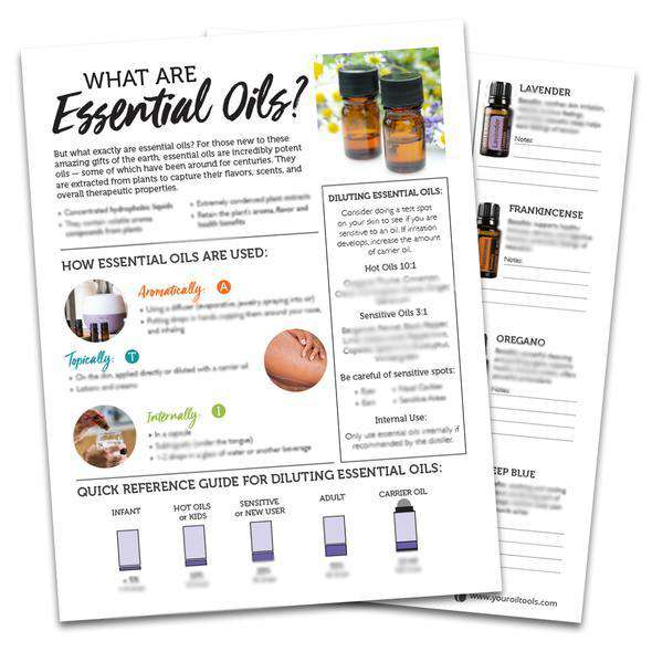 doTERRA Essential Oils Tear Pad - Your Oil Tools