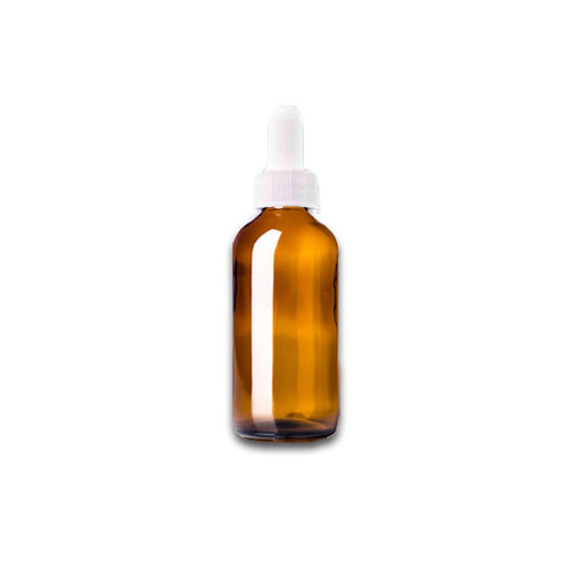 1 oz Amber Glass Bottle w/ White Dropper - Your Oil Tools