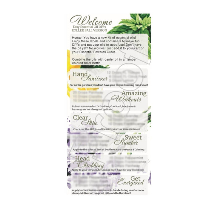 Young Living Welcome Education Cards (Pack of 10) - Your Oil Tools