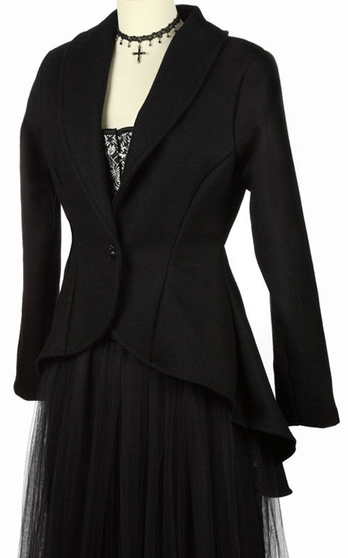 245WL - Pure Wool Bustle jacket