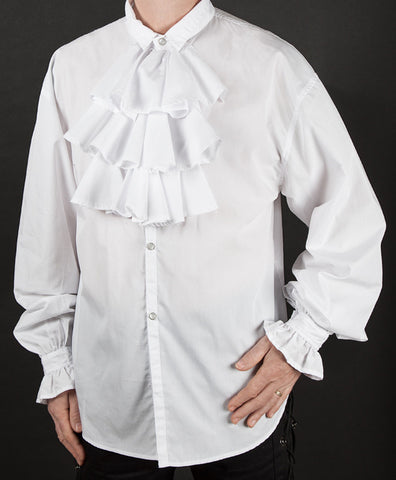 259 - Frill Front Shirt (Black & White)