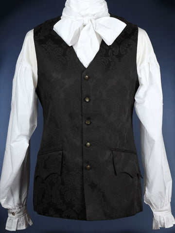 388 - Bow Cravat Shirt (Black & White)