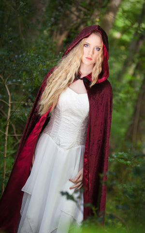 271WN - Wine Hooded Cloak