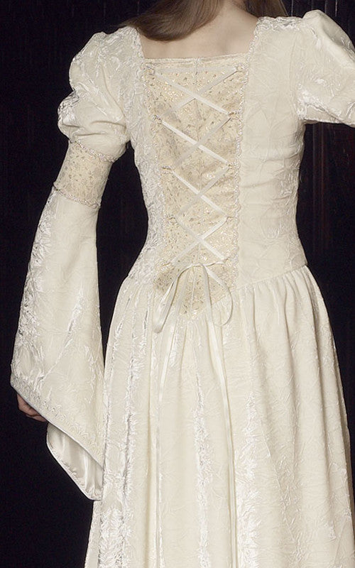 Medieval style gown in ivory, perfect for a wedding or handfasting ...