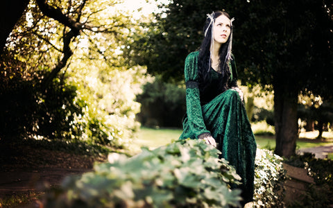 419GN - Green Gabriel Dress