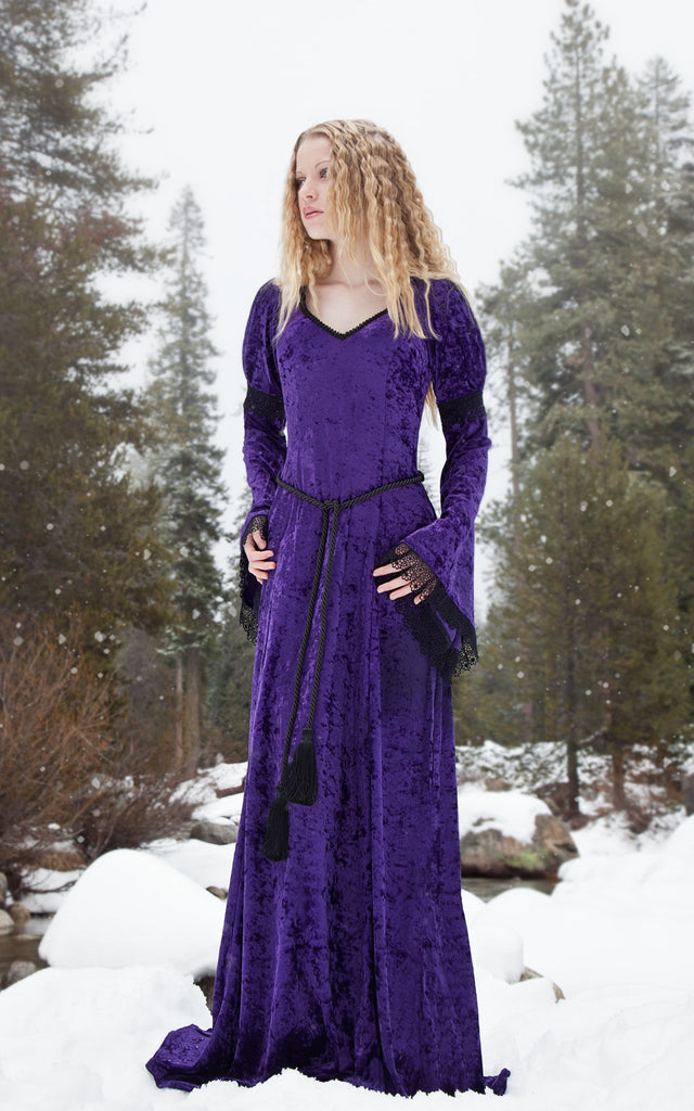 419P- Purple Gabriel Dress