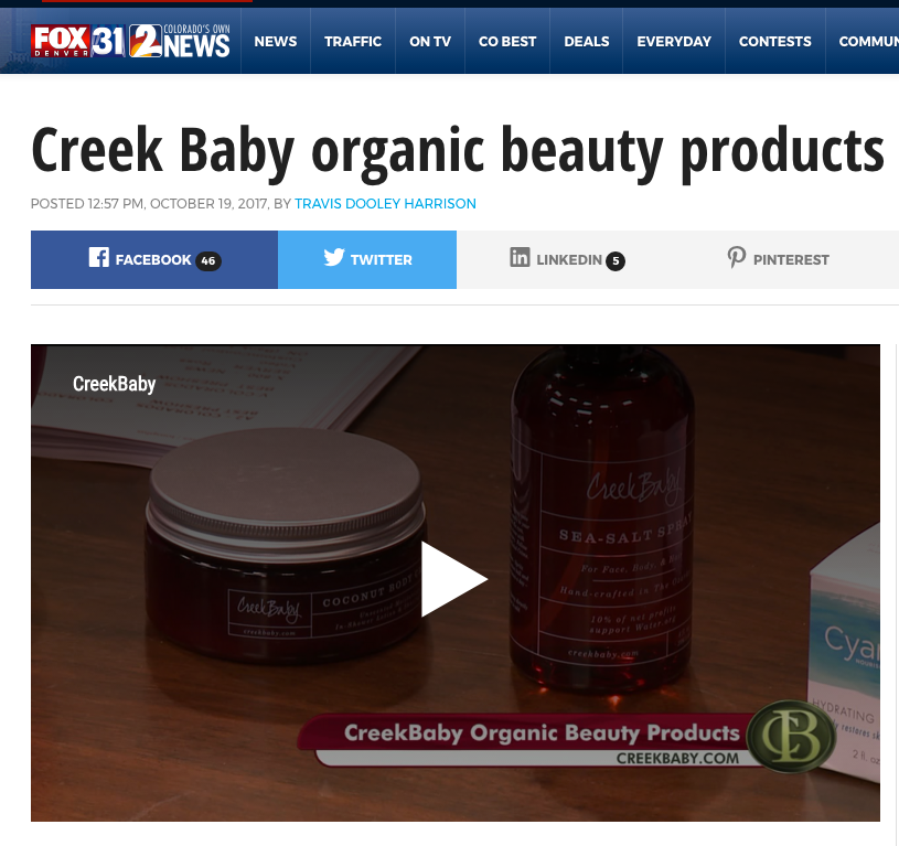 FOX News!  Colorado's Best talking about CreekBaby!