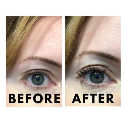 Natural Mascara Before and After by CreekBaby