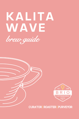 Kalita Wave Brew Guide Brio Coffeeworks
