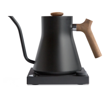 Stagg EKG Electric Pour Over Kettle - Matte Black + Walnut