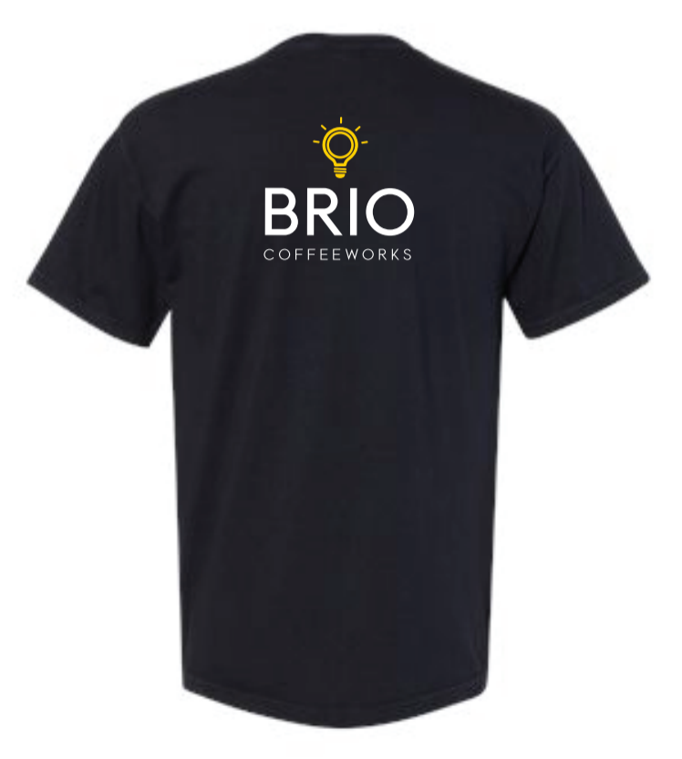 Brio Stripe Pocket Tee - Black