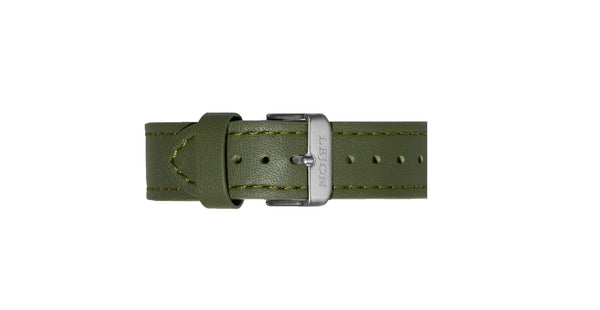 Genuine Leather Strap Olive