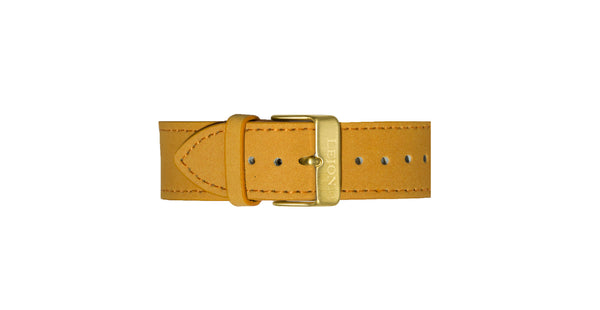 Genuine Leather Strap Orange