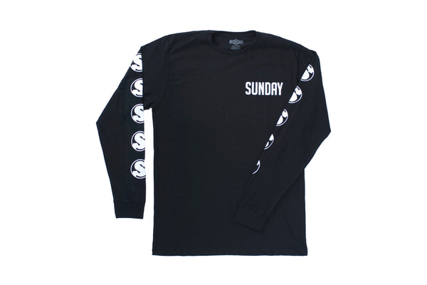 Badge Long Sleeve Shirt (Black)