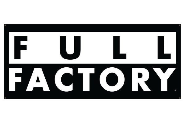 Full Factory Distro Banner - Black/White (7' x 3')