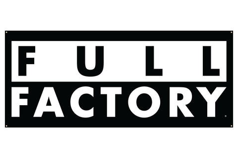 Full Factory Dist. Banner - Black/White (7' x 3')