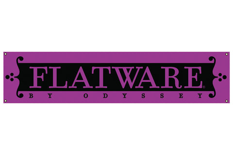 Flatware Brand Banner - Purple/Black (6' x 1')