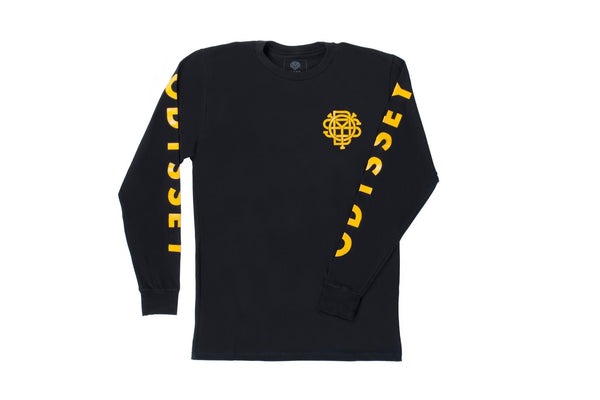 Futura Long Sleeve (Black/Goldenrod)