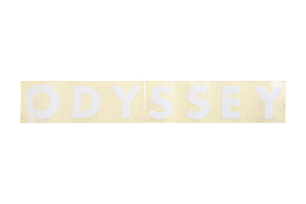 Odyssey Futura Big Ramp Die-Cut Sticker (White)
