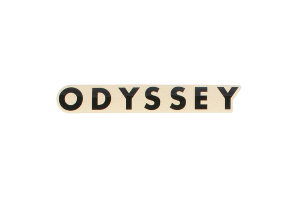 Odyssey Futura Clear Back Sticker (Black, White, or Red)