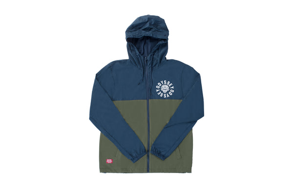 Central Windbreaker Jacket (Navy/Olive)