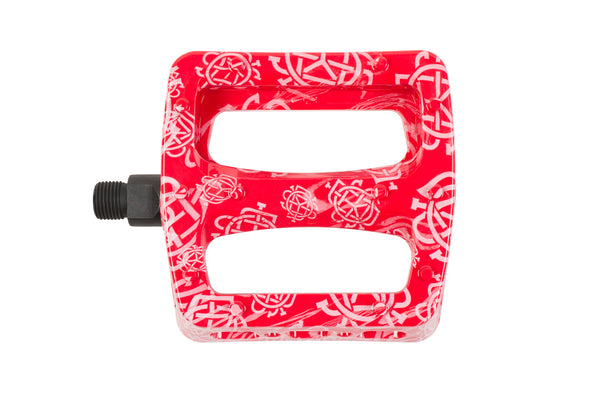 Twisted Pro PC Pedals (Monogram All-Over Red)