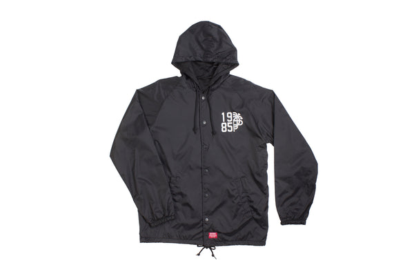 Odyssey Trademark Hooded Windbreaker Jacket (Black)