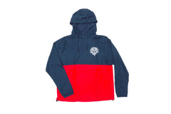 Odyssey Monogram Hooded Windbreaker Jacket (Navy/Cardinal)