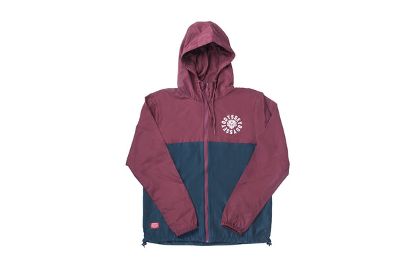 Central Windbreaker Jacket (Cardinal/Navy)