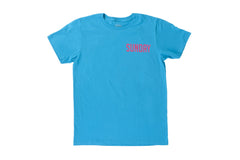 Badge Tee (Ocean Blue/Pink)