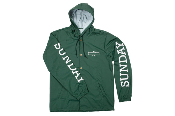 Sunday Rockwell Hooded Windbreaker Jacket (Green)