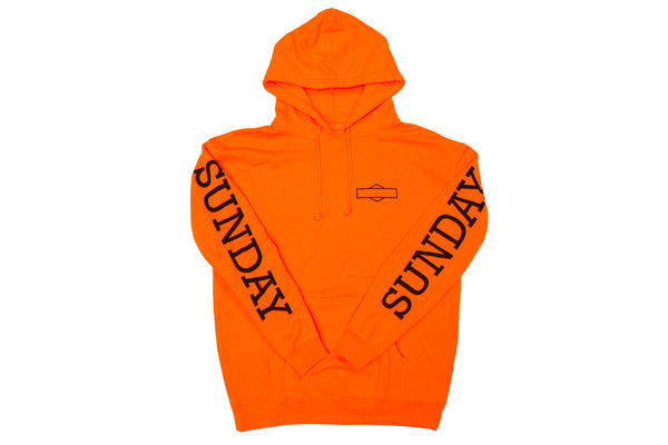 Sunday Rockwell Box Pullover Hoodie (Orange)