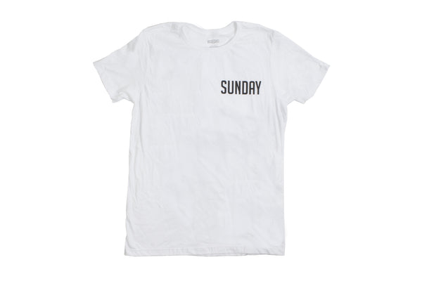 Sunday Badge Tee (White)