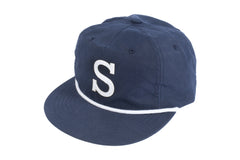 "Sunday Big ""S"" Unstructured Hat (Navy)"