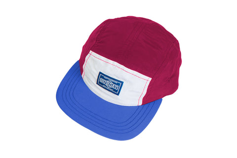 Color Block Camper Hat (Burgundy/Royal Blue)
