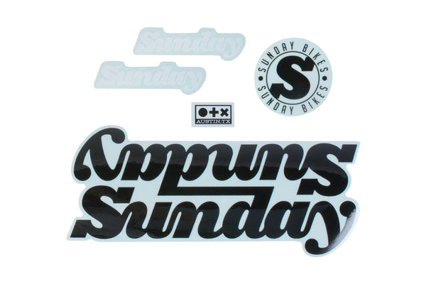 Sunday Completes Bikes Decals (White)