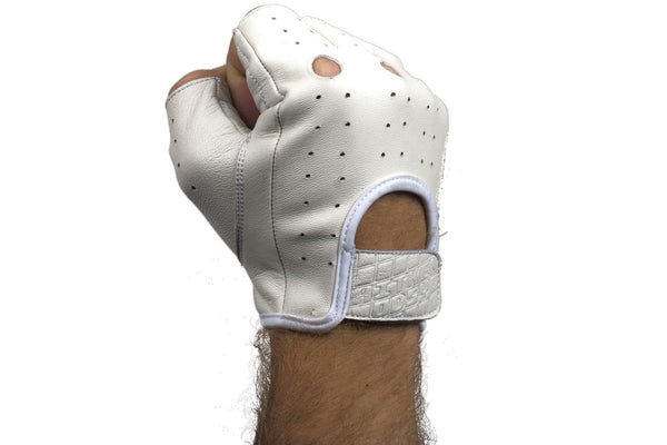 Aitken Hellbent Gloves Fingerless (White)