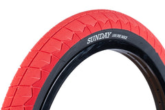 "Sunday Current v2 20"" Tire (Red/Black)"