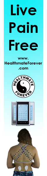HealthmateForever live pain free, vertical, logo, model, unit