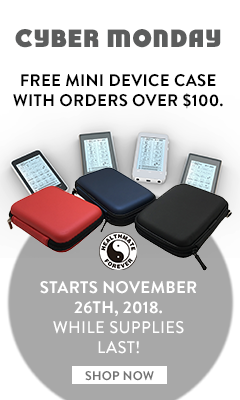 CYBER MONDAY - FREE MINI DEVICE CASE with orders over $100! No coupon code needed, while supplies last!