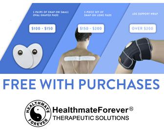 10 FREE Small Adhesive TENS Therapy Pads with purchase over $100. 5 FREE Long Strip Adhesive TENS Therapy Pads with purchase over $150. FREE Leg Support Brace with purchase over $200.