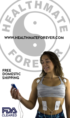 HealthmateForever FDA Cleared Free Domestic Shipping, faded logo, model