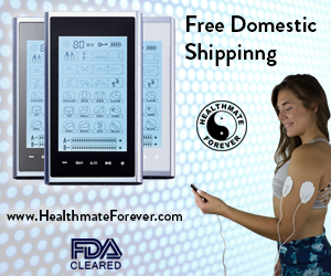 HealthmateForever FDA Cleared Free Domestic Shipping, mode, blue dots