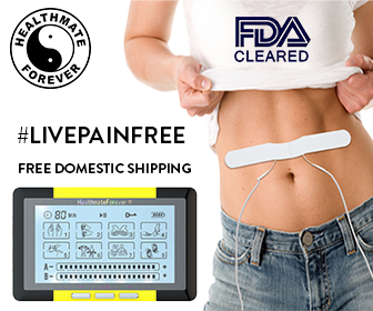 HealthmateForever, model waist, logo, livepainfree, free domestic shipping